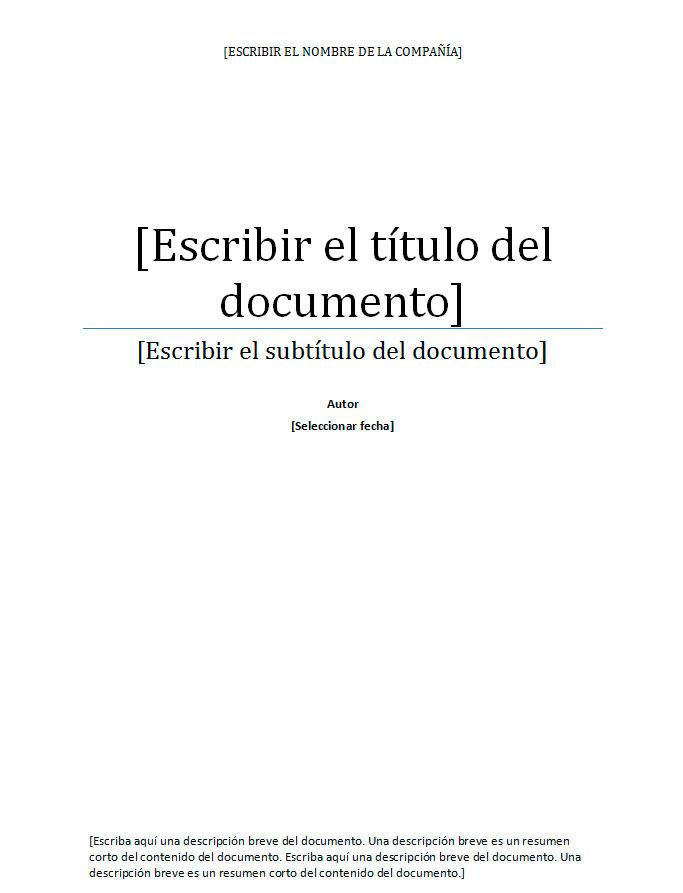 La portada de un informe Hacer la portada de un informe - formatos de informes gerenciales