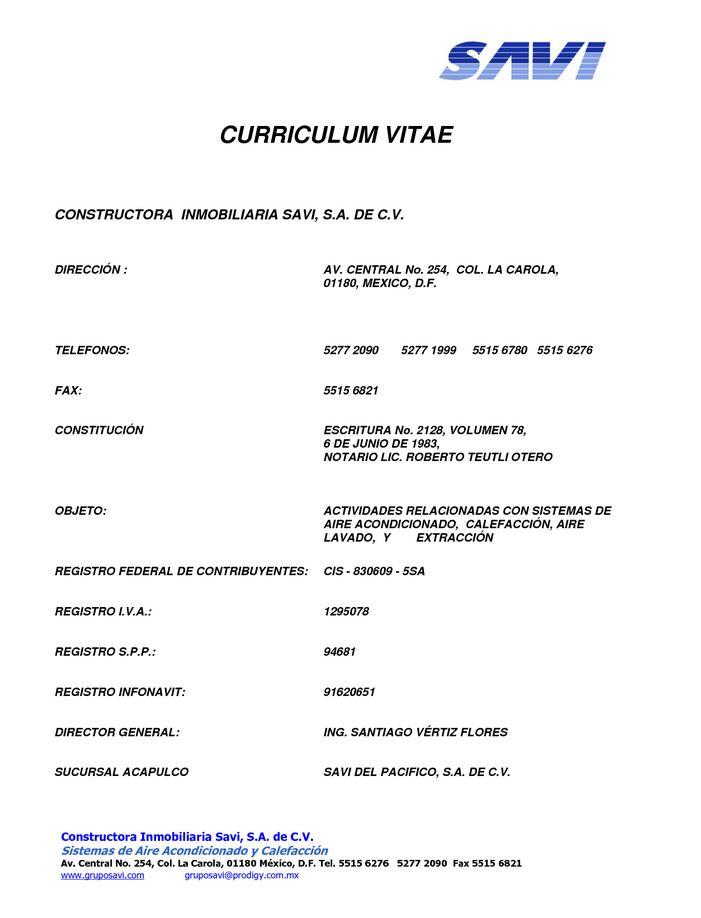 ejemplo de curriculum empresarial  Modelo Curriculum
