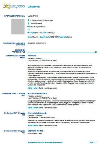 El Currículum Europass Currículum Europeo Modelo Curriculum