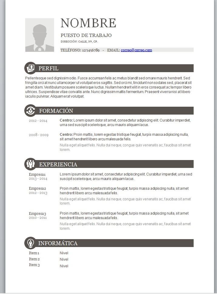 Plantilla De Curriculum Vitae Basico Argentina Sample Resume Service