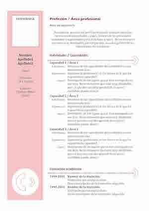 Modelos y Plantillas de Currículum Vitae Modelo Curriculum
