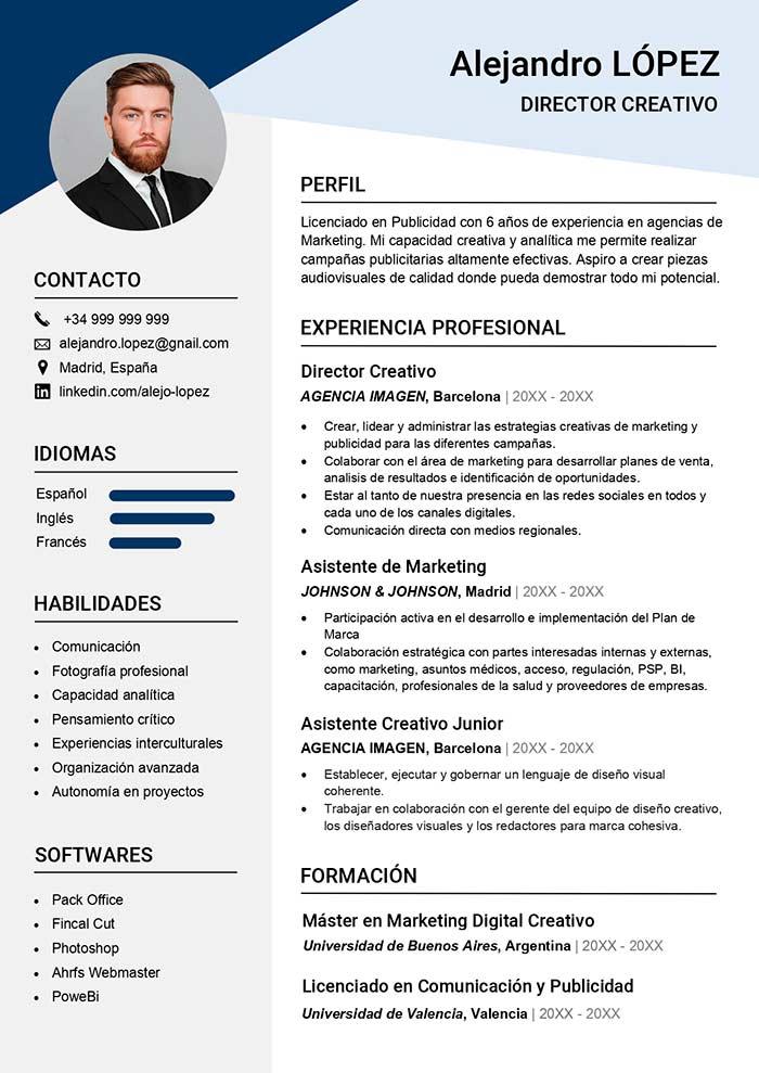 Formato de Curriculum Vitae para Rellenar Modelo Curriculum