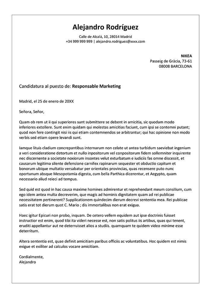 Plantilla de Carta de Presentación de una Empresa Word
