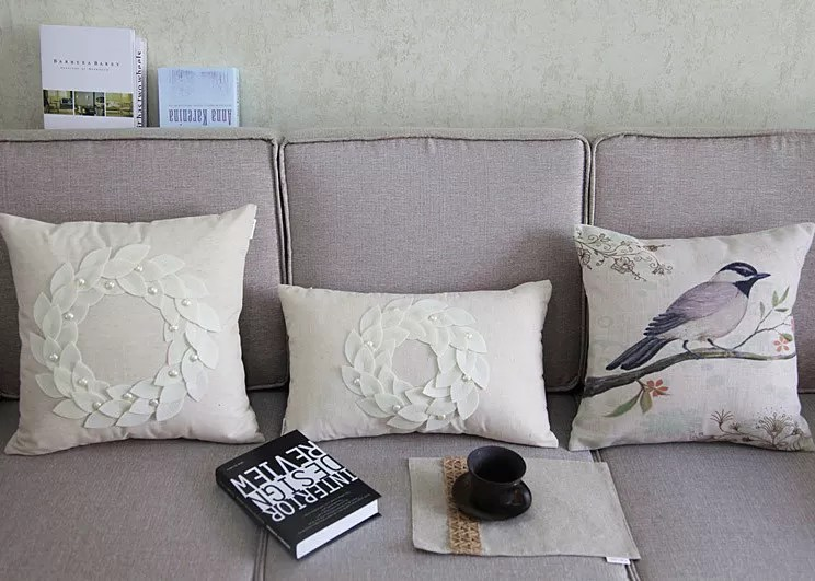 Country Style Patchwork Decorative Throw Pillows Handmade
