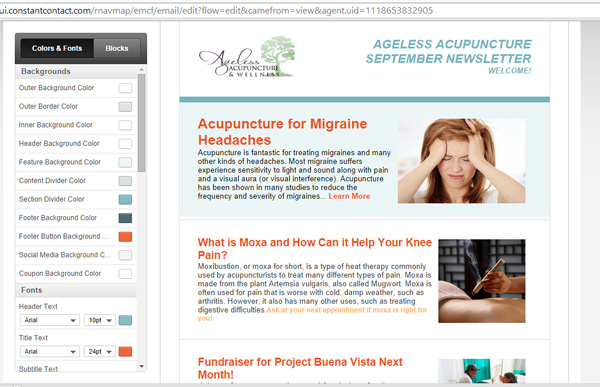 Newsletter Comparison + How to Chose - Modern Acupuncture - example news letter