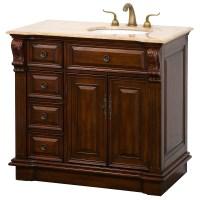 "Nottingham 38"" Traditional Single Bathroom Vanity with ..."