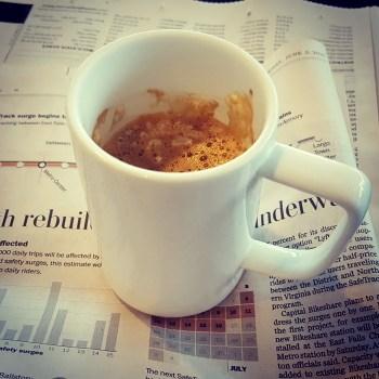 espresso and paper photo by Debra Smouse