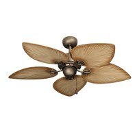 42 Inch Tropical Ceiling Fan - Small Antique Bronze Bombay ...