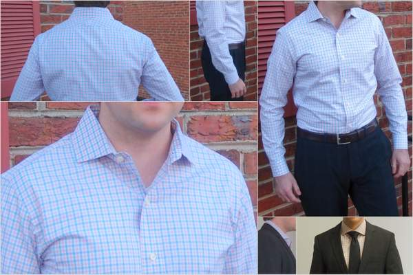 Ratio Clothing's Harrison Tattersal dress shirt.