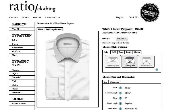 Ratio clothing order form