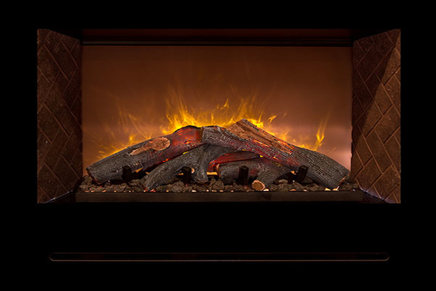 Landscape Modern Flames Electric Fireplace Small House
