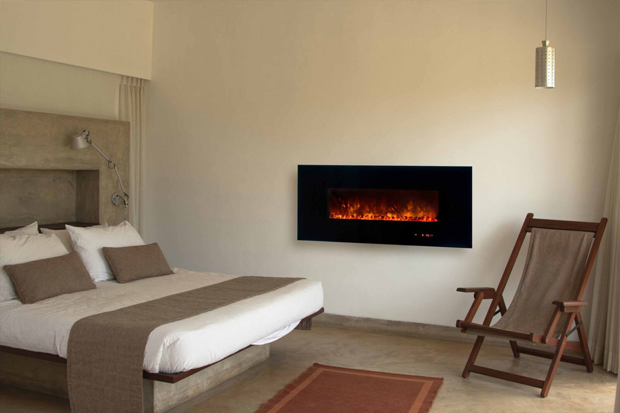home news save space with a corner electric fireplace