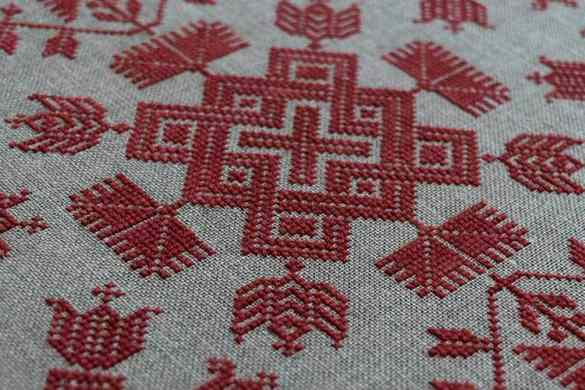 Knots and Flowers - Scandinavian Cross Stitch Chart by Modern Folk Embroidery inspired by Swedish Embroidery