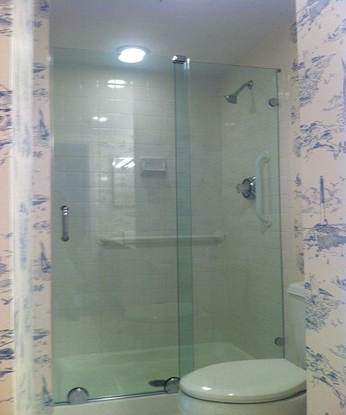 Bypass sliding shower doors8