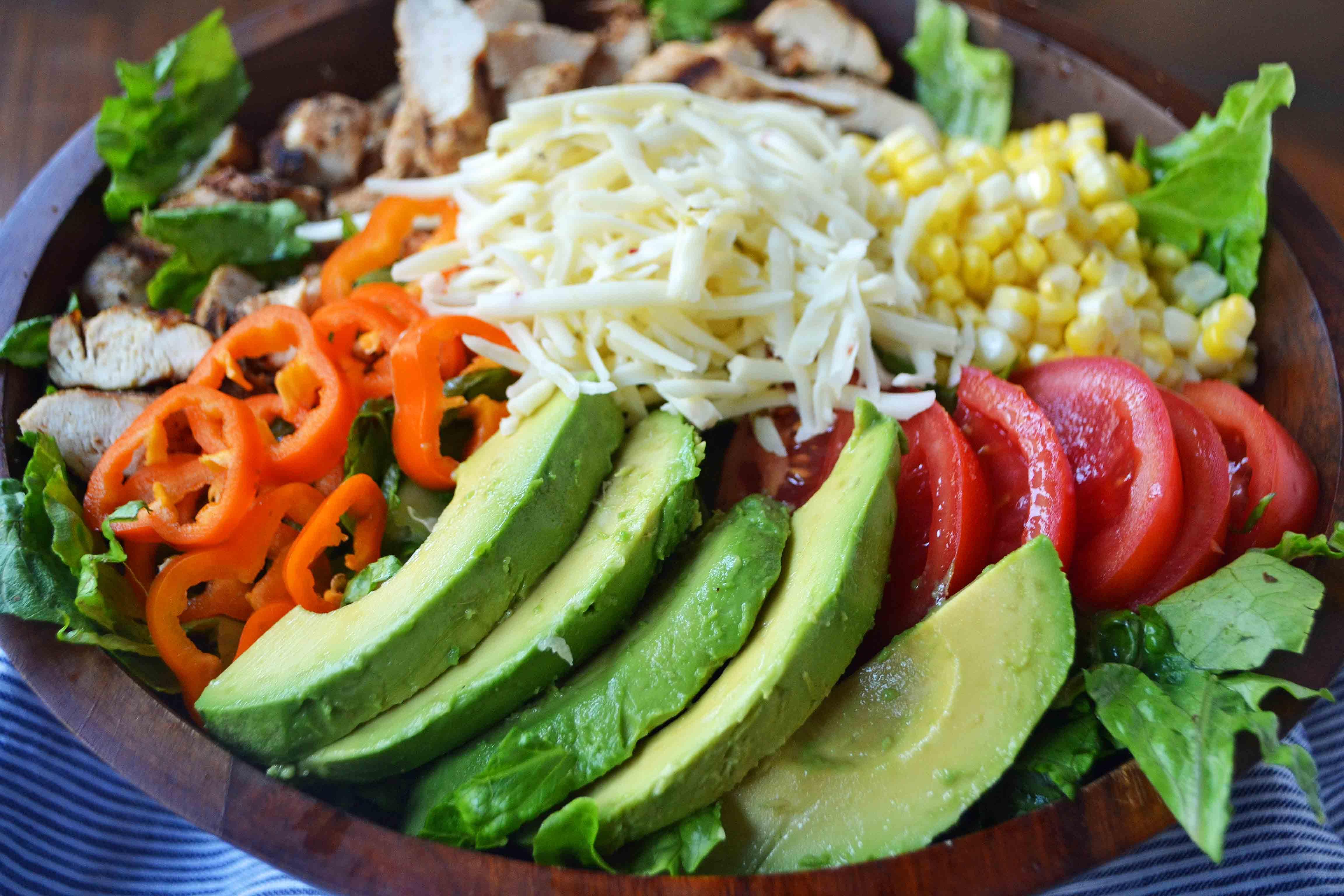 Southwestern Chicken Chopped Salad with Cilantro Lime Ranch by Modern Honey l www.modernhoney.com