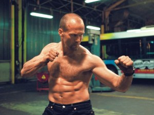 Jason Statham ripped abs