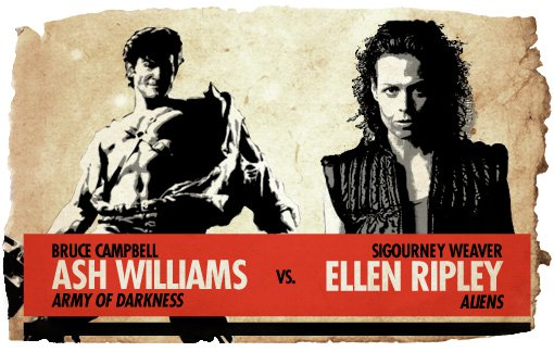 Action Hero Showdown Ash Williams vs. Ellen Ripley