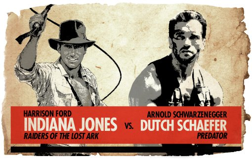Ultimate Action-Hero Showdown: Indiana Jones vs. Dutch