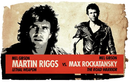 Ultimate Action Hero Showdown Martin Riggs vs. Mad Max
