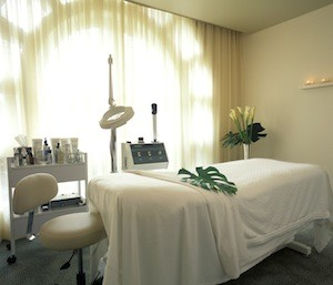 Facial room at the spa