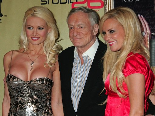 Hugh Hefner and friends