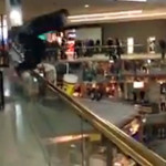 Video: Goofball at Mall Leaps Into Pool