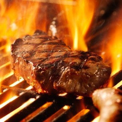 best way to grill steak, flames
