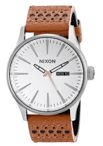 Nixon perforated leather