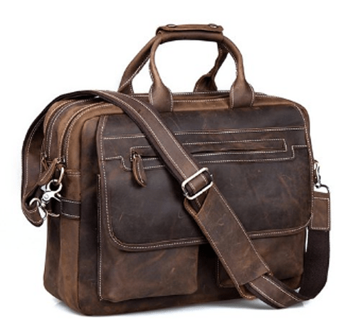 Kattee Crazy Horse leather briefcase for men