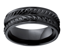 best wedding bands for men Black Titanium