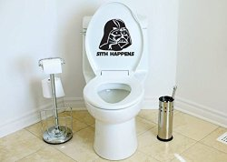 Star Wars Inspired Parody Sith Happens Toilet Vinyl Decal