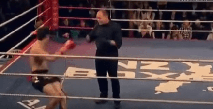 Video: Dude Gets KOed, Stands Up, Does A Dance, Then Leaps Out Of The Ring