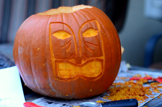 Tiki Mask Pumpkin