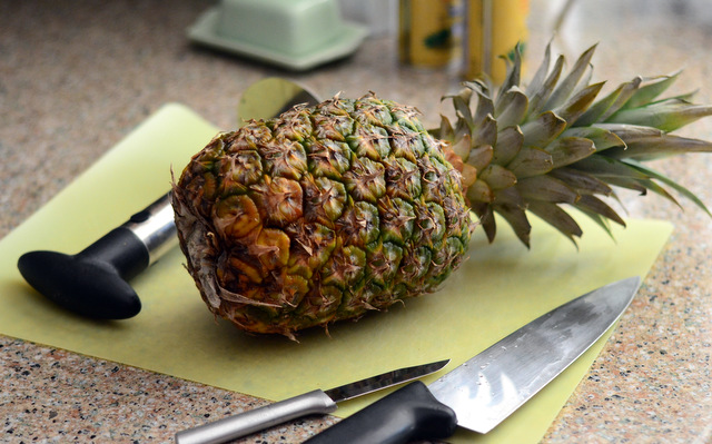 Whole, fresh pineapple