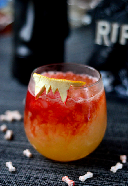 Vampire's Fang, a Halloween Tiki Drink