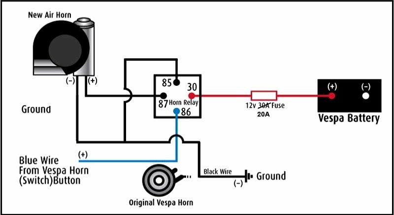 12 Volt Horn Relay Diagram Wiring Schematic Diagram