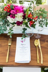 rustic country wedding table setting