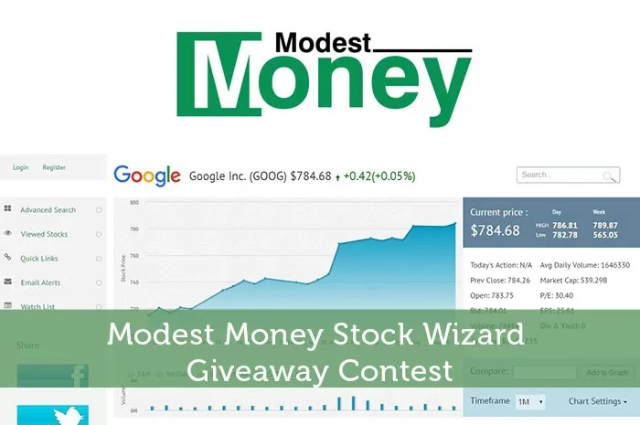 Modest Money Stock Wizard Giveaway Contest - Modest Money
