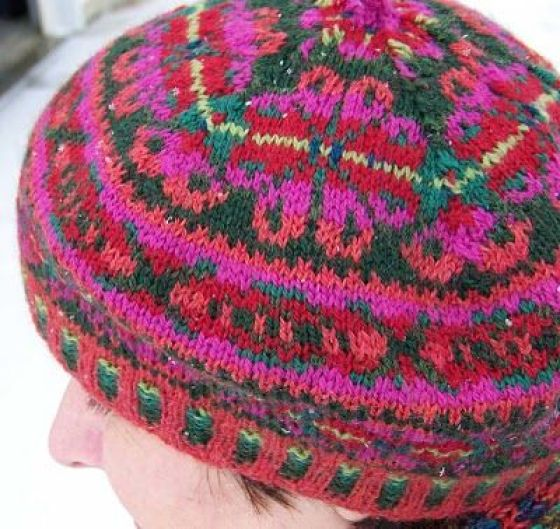 modflowers: knitted tam o'shanter by lisa kay knits