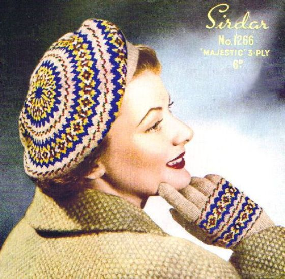 modflowers: vintage knitting pattern from knittingpatternbazaar on ebay