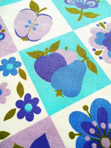 small piece 1960s lightweight cotton fabric
