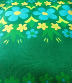 1960s cotton furnishing fabric