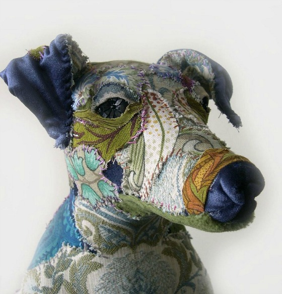 modflowers: Blue - textile menagerie by Bryony Rose Jennings
