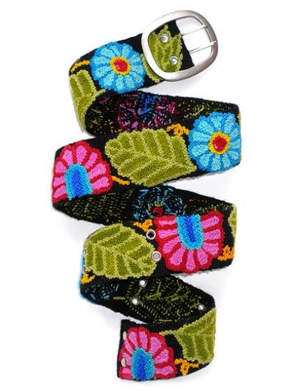 modflowers: Peruvian embroidered belt