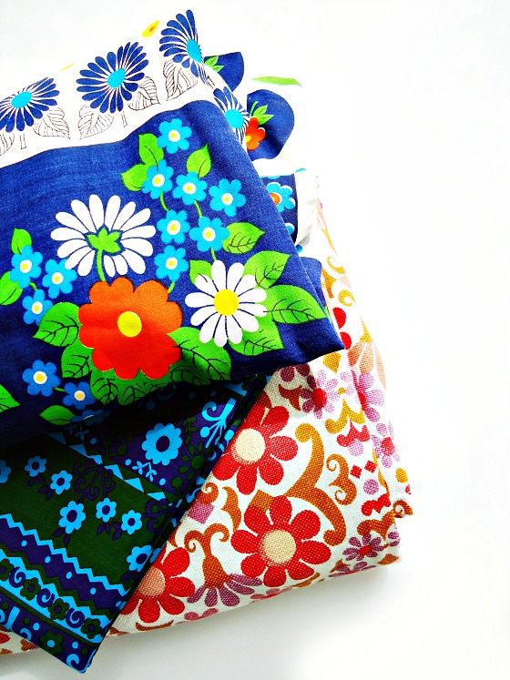 modflowers: Sheffield spoils - vintage fabrics
