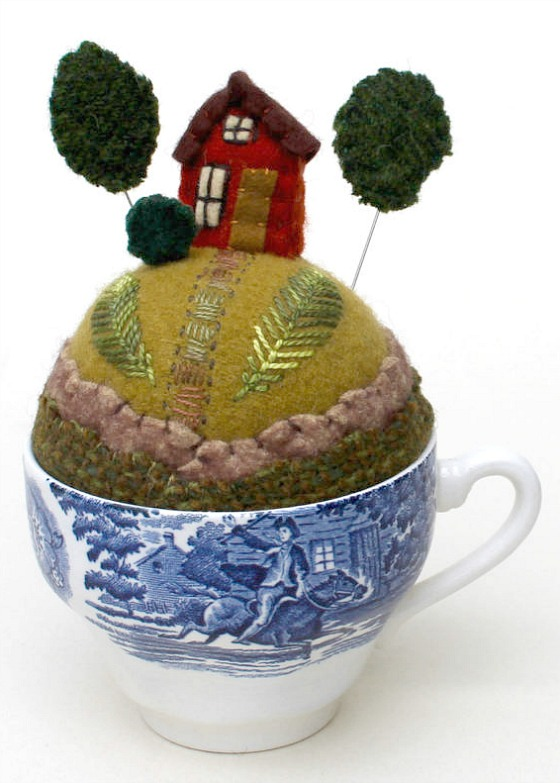 modflowers: pining for pincushions - tiny world pincushion by Mimi Kirchner