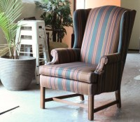 How to de Upholster a Wingback Chair | ModHomeEc