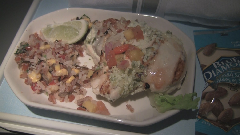 Air Canada First Class Meal