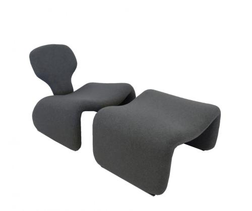 Horrible Ny Olivier Lounge Chairs Djinn Fireside Chair Ottoman Olivier Mourgue Djinn Chair Reupholstery Ottomans