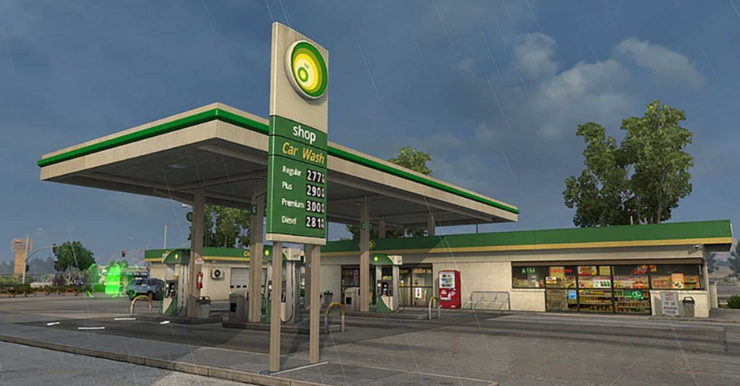 Gta Car Wallpaper Real Brands For Gas Station For Ats American Truck